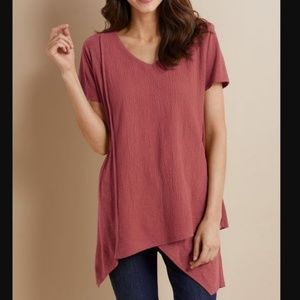 SOFT SURROUNDINGS Neroli Tee Tunic Top Petite XL
